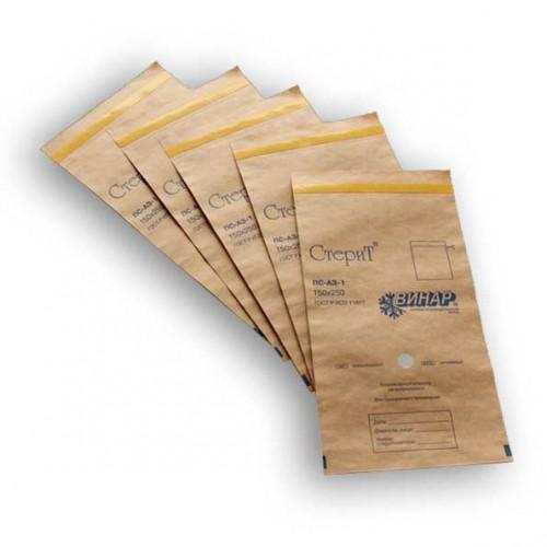 Крафт-пакеты с индикатором 115*245 мм. 100 шт